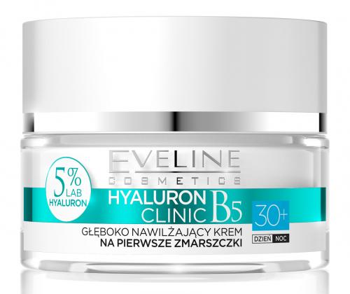 EVELINE - HYALURON CLINIC 30+ Głęboko nawilżający krem do twarzy na pierwsze zmarszczki