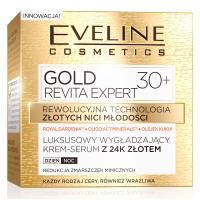 EVELINE - GOLD REVITA EXPERT - Luksusowy, wygładzający krem-serum z 24k złotem - 30+