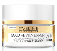 EVELINE - GOLD REVITA EXPERT - Luxurious, smoothing cream-serum with 24k gold - 30+