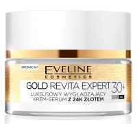 Eveline Cosmetics - GOLD REVITA EXPERT - Luksusowy, wygładzający krem-serum z 24k złotem - 30+