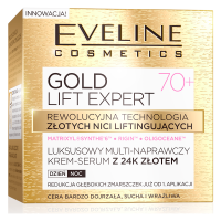 EVELINE - GOLD LIFT EXPERT - Luksusowy multi-naprawczy krem-serum z 24k złotem - 70+