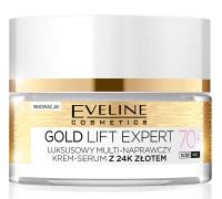 Eveline Cosmetics - GOLD LIFT EXPERT - Luksusowy multi-naprawczy krem-serum z 24k złotem - 70+