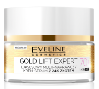 EVELINE - GOLD LIFT EXPERT - Luxury multi-repair cream-serum with 24k gold - 70+