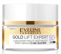 EVELINE - GOLD LIFT EXPERT - Luxurious multi-nourishing cream-serum with 24k gold - 50+