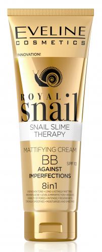 Eveline Cosmetics - ROYAL SNAIL BB CREAM - Matujący krem BB przeciw niedoskonałościom
