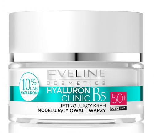 EVELINE - HYALURON CLINIC 50+ Liftingujący krem modelujący owal twarzy
