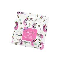 GLOV - QUICK TREAT Limited Unicorn Edition - Bouncy Blue - Mini rękawica do demakijażu - SPORTOWY BŁĘKIT