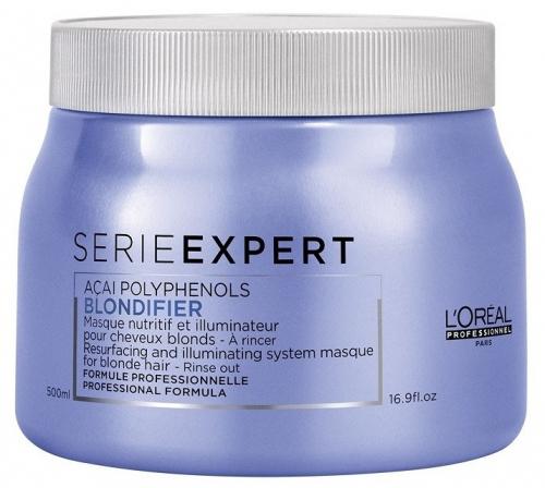 L'Oréal Professionnel - SERIE EXPERT - ACAI POLYPHENOLS - BLONDIFIER - Rozświetlająca maska do włosów blond - 500 ml