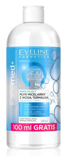 EVELINE - FaceMed+ Korean Jeju Island Minerals - Nawilżający płyn micelarny z wodą termalną