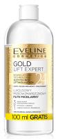 Eveline Cosmetics - GOLD LIFT EXPERT - 24 K - Luksusowy przeciwzmarszczkowy płyn micelarny dla cery dojrzałej, suchej i wrażliwej