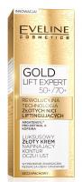 EVELINE - GOLD LIFT EXPERT 50+/70+ Luksusowy złoty krem napinający kontur oczu i ust