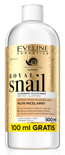 EVELINE - ROYAL SNAIL MICELLAR WATER - Intensively regenerating micellar water with snail slime