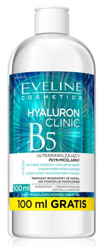 EVELINE - HYALURON CLINIC B5 - Ultranawilżający płyn micelarny 3w1
