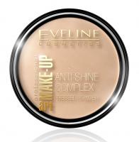 EVELINE - Art Make-Up - Anti-Shine Complex Pressed Powder - Puder mineralny z jedwabiem - 37 WARM BEIGE - 37 WARM BEIGE