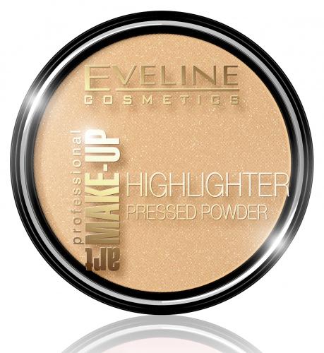 EVELINE - ART MAKE-UP - HIGHLIGHTER PRESSED POWDER - Puder rozświetlający - 55 Golden