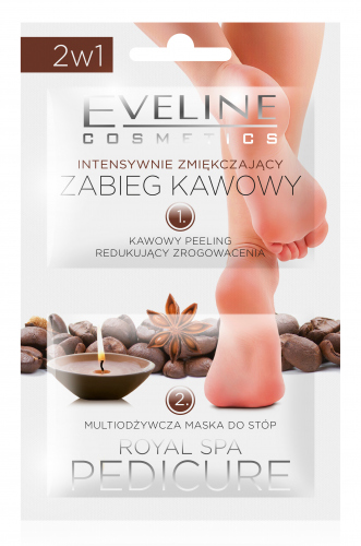 EVELINE - ROYAL SPA PEDICURE - Intensively softening coffee foot treatment