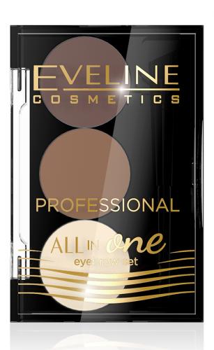 EVELINE - ALL IN ONE Eyebrow Set - Profesjonalny zestaw do stylizacji i makijażu brwi