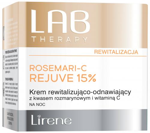 Lirene - LAB THERAPY - ROSEMARI-C REJUVE 15% - Krem rewitalizująco-odnawiający z kwasem rozmarynowym i witaminą C na noc