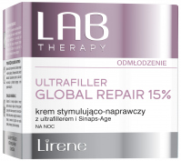 Lirene - LAB THERAPY - ULTRAFILLER GLOBAL REPAIR 15% - Stimulating and repairing night cream