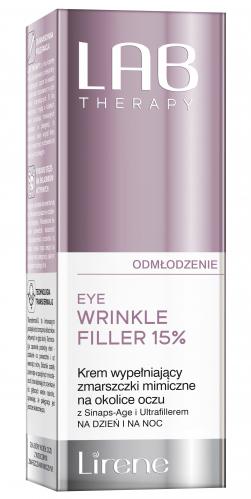 Lirene - LAB THERAPY - EYE WRINKLE FILLER 15% - Krem wypełniający zmarszczki mimiczne na okolice oczu