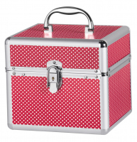Small red cosmetic case with white dots - RED - BB475