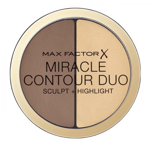 Max Factor - MIRACLE CONTOUR DUO - Light/Medium - Zestaw do konturowania twarzy
