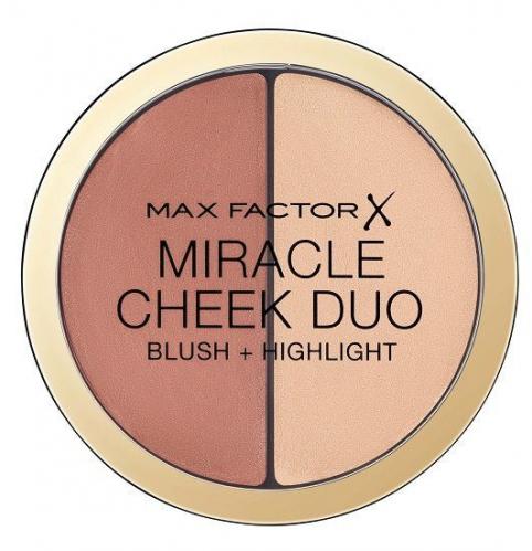Max Factor - MIRACLE CHEEK DUO - Kremowy rozświetlacz i róż