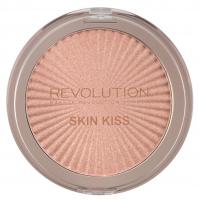 MAKEUP REVOLUTION - SKIN KISS - Highlighter - Rozświetlacz do twarzy - PEACH KISS - PEACH KISS
