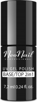 NeoNail - UV GEL POLISH - BASE/TOP 2IN1 - Base and top for hybrid polish - 7.2ml - 6621-7