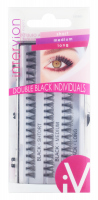 Inter-Vion - DOUBLE BLACK INDIVIDUALS - Tufts of eyelashes - MIX