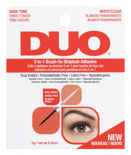 DUO - 2in1 Brush On Striplash Adhesive - 2in1 eyelash adhesive - Black / White