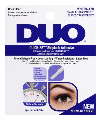 DUO - QUICK-SET Striplash Adhesive - Eyelash Adhesive - White / Clear