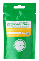 Ecocera - Maska kosmetyczna przeciwzmarszczkowa na bazie różowej glinki z kofeiną, likopenem, złotem, srebrem i miedzią koloidalną - 50 g