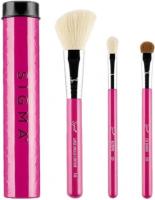 Sigma - ESSENTIAL TRIO BRUSH SET - Set of 3 make-up brushes + mini tube