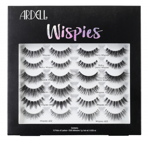 ARDELL - WISPIES WONDERLAND LASH BOX - Set of 12 pairs of artificial eyelashes on stripe