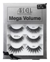 ARDELL - Mega Volume 3 Pack - A set of 3 pairs of false eyelashes on the strip