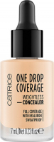 Catrice - ONE DROP COVERAGE - WEIGHTLESS CONCEALER - Korektor do twarzy w kropelkach - 003 - PORCELAIN - 003 - PORCELAIN