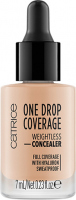 Catrice - ONE DROP COVERAGE - WEIGHTLESS CONCEALER - Korektor do twarzy w kropelkach - 010 - LIGHT BEIGE - 010 - LIGHT BEIGE