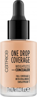 Catrice - ONE DROP COVERAGE - WEIGHTLESS CONCEALER - Korektor do twarzy w kropelkach - 020 - NUDE BEIGE - 020 - NUDE BEIGE
