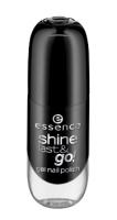 Essence - SHINE LAST & GO! GEL NAIL POLISH - Gel nail polish - 46 - BLACK IS BACK - 46 - BLACK IS BACK
