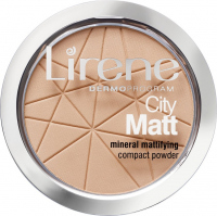 Lirene - City Matt - Mineral Mattifying Compact Powder - Mineralny puder matujący - 02 - NATURALNY - 02 - NATURALNY