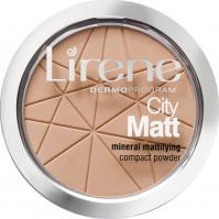 Lirene - City Matt - Mineral Mattifying Compact Powder - Mineralny puder matujący - 03 - BEŻOWY - 03 - BEŻOWY