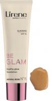 Lirene - BE GLAM - Healthy Glow Foundation - Rozświetlający podkład do twarzy z guaraną - 15 - NATURAL BEIGE - 15 - NATURAL BEIGE