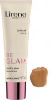 Lirene - BE GLAM - Healthy Glow Foundation - Rozświetlający podkład do twarzy z guaraną - 10 - NATURAL ROSE - 10 - NATURAL ROSE