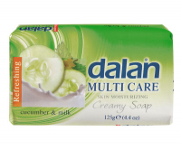 Dalan - MULTI CARE - Creamy Soap - Moisturizing soap - CUCUMBER AND MILK