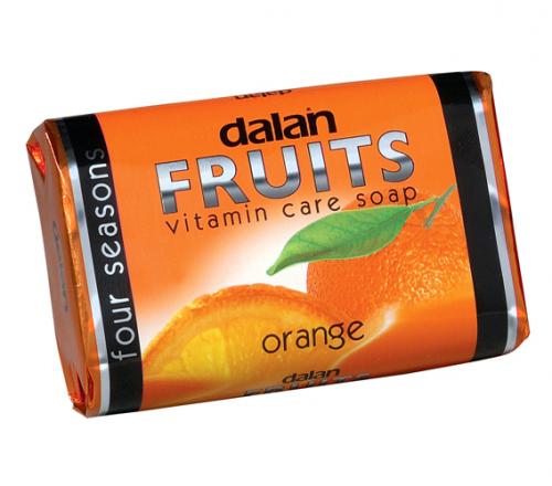 Dalan - Fruits Vitamin Care Soap - Witaminowe mydło w kostce - Pomarańcza
