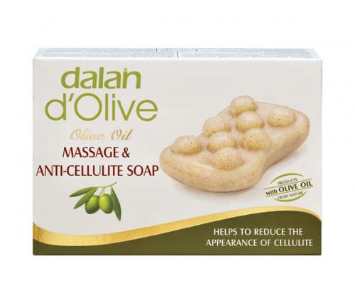 Dalan d'Olive - MASSAGE & ANTI CELLULITE SOAP - Oliwkowe mydło antycellulitowe do masażu ciała