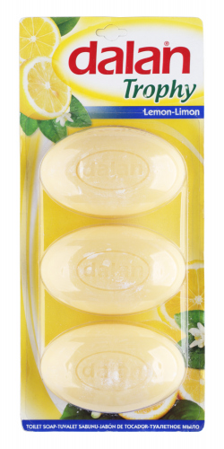 Dalan - TROPHY SOAP - Set of 3 bar soaps - LEMON