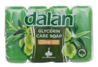 Dalan - Glycerin Care Soap - Zestaw 4 mydeł w kostce - Oliwkowe