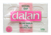 Dalan - Pure Natural Soap - A set of 4 natural bar soaps - White
